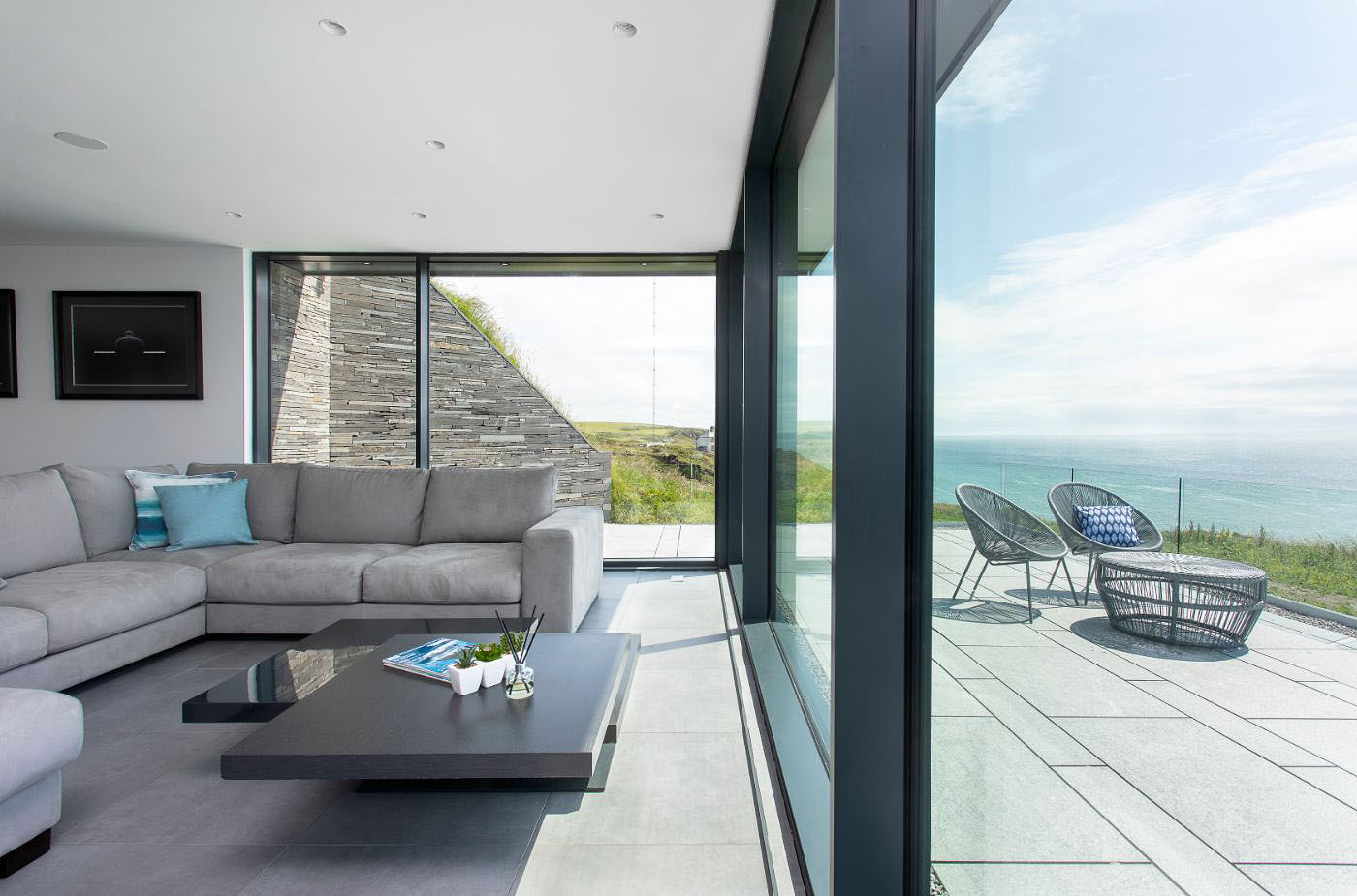 glass wall and terrace